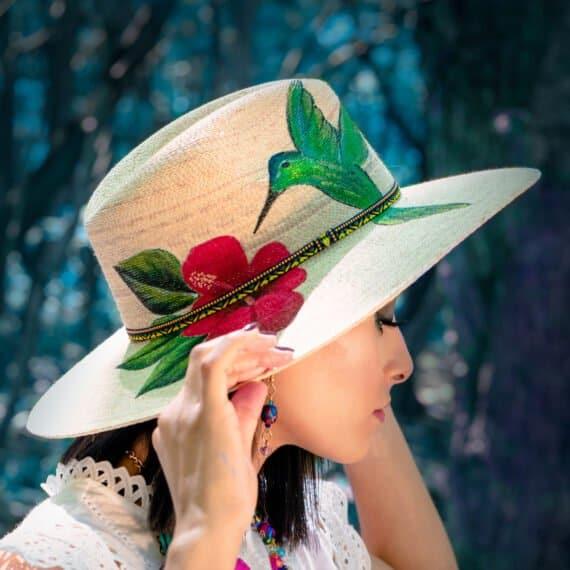 Sombrero pintado a mano