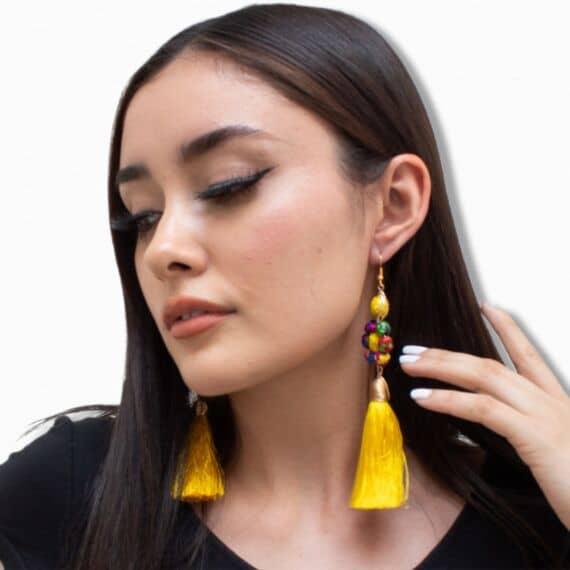 aretes artesanales mexicanos